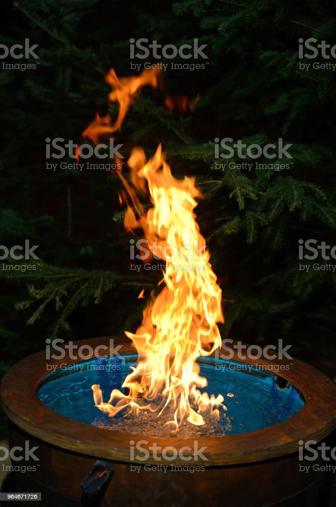 water on fire royalty-free stock photo