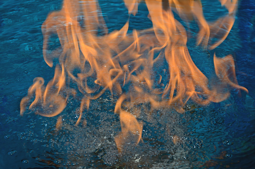 Water On Fire Stock Photo - Download Image Now