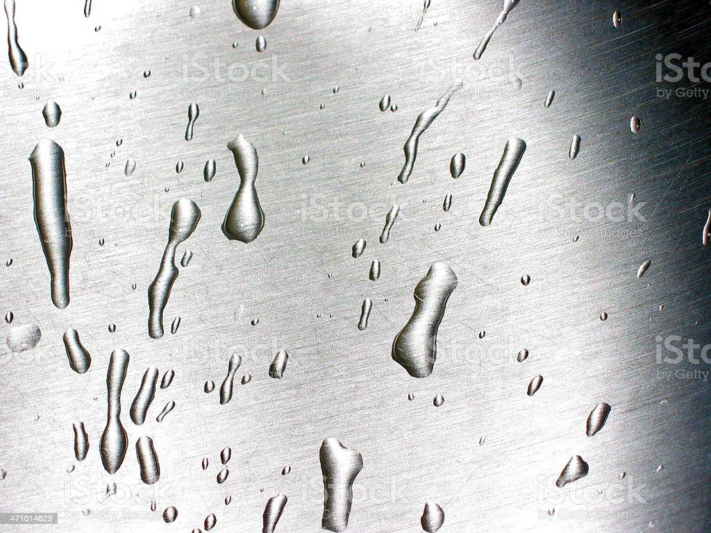 Water on Metal royalty-free stock photo
