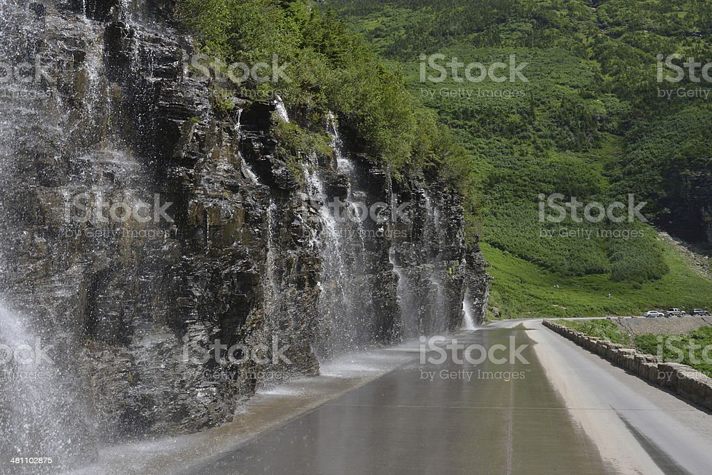 Water on the mountain road, Montana, USA royalty-free stock photo