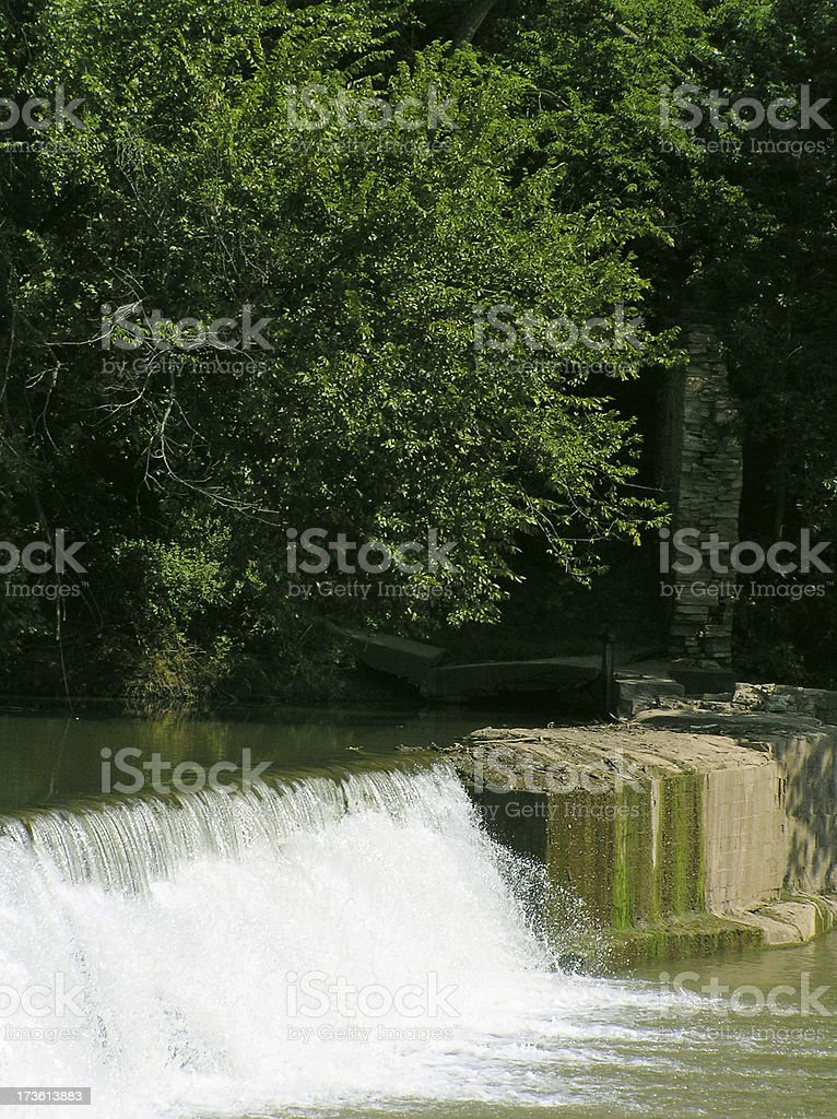 Water over the Dam stock photo