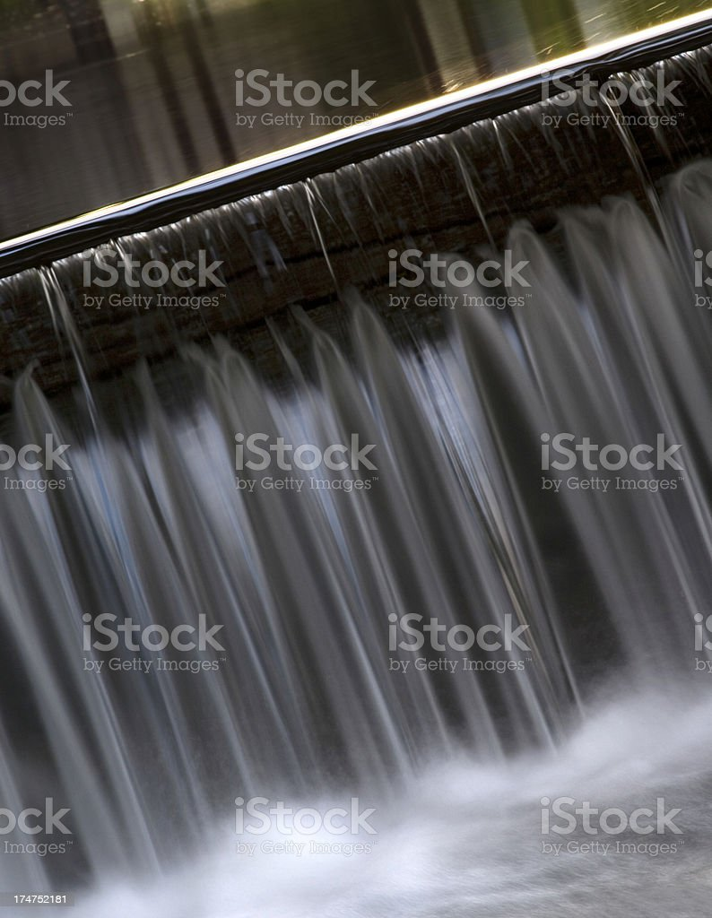 Water Over the Dam royalty-free stock photo