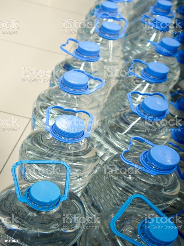 water pet bottles, stock photo