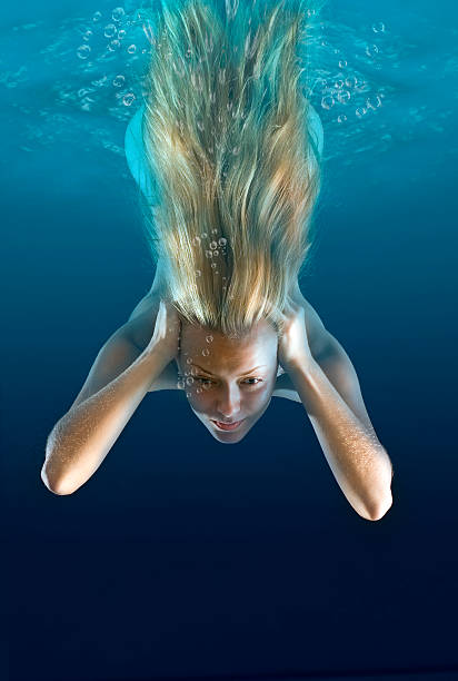 Best Underwater Women Naked Diving Stock Photos, Pictures