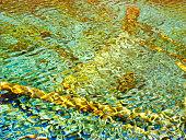 Van Gogh heart. Vector illustration, colorful dots,3D effect