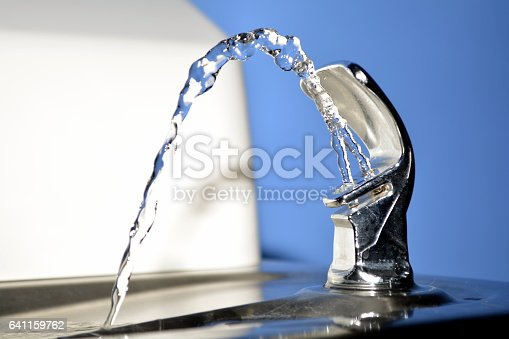 A runing water fountain.