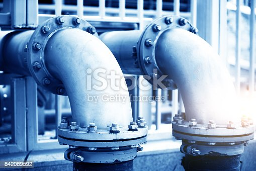 istock Water Pipeline in Water Treatment Plant 842089592