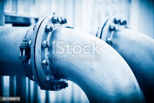 istock Water Pipeline in Water Treatment Plant 842089676