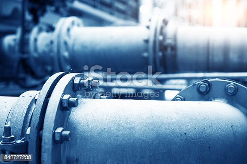 istock Water Pipeline in Water Treatment Plant 842727238