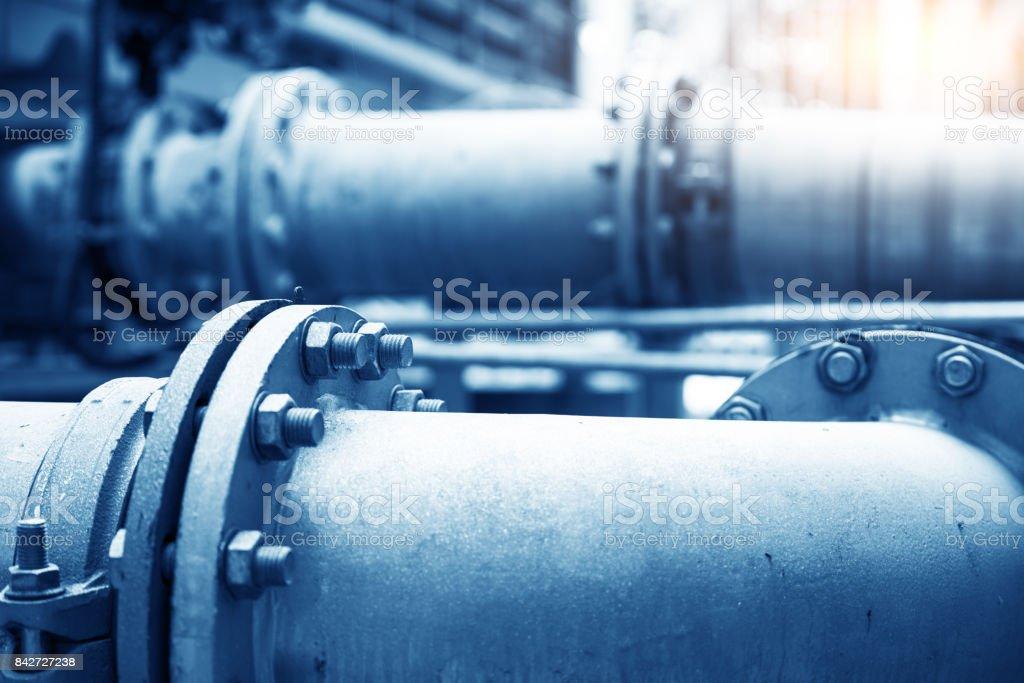 Wasserleitung in einer Wasseraufbereitungsanlage – Foto