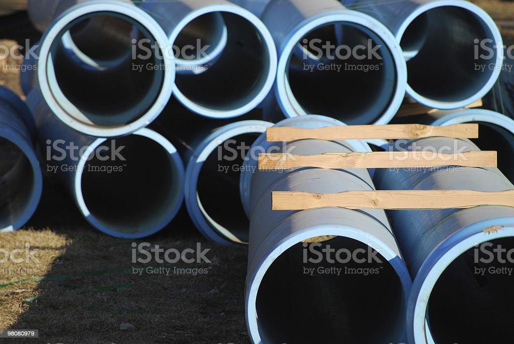 Pipes sopra di acqua foto stock royalty-free