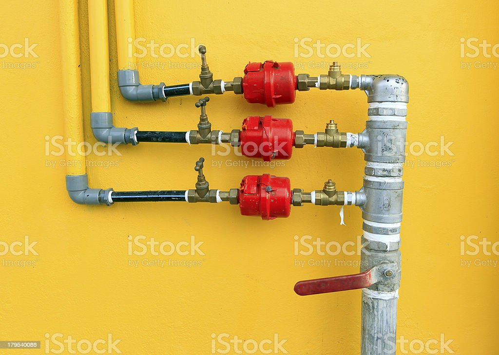 Water pipes and meter royalty-free stock photo