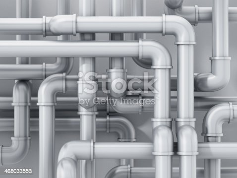 Gray water pipes.