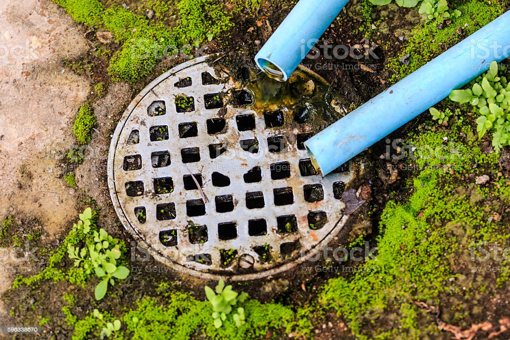 water pipe,Sewer is dirty. royalty-free stock photo