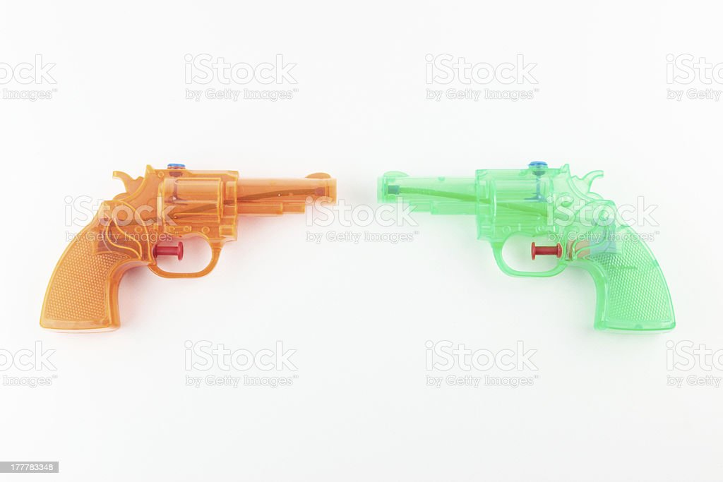 Water pistols stock photo