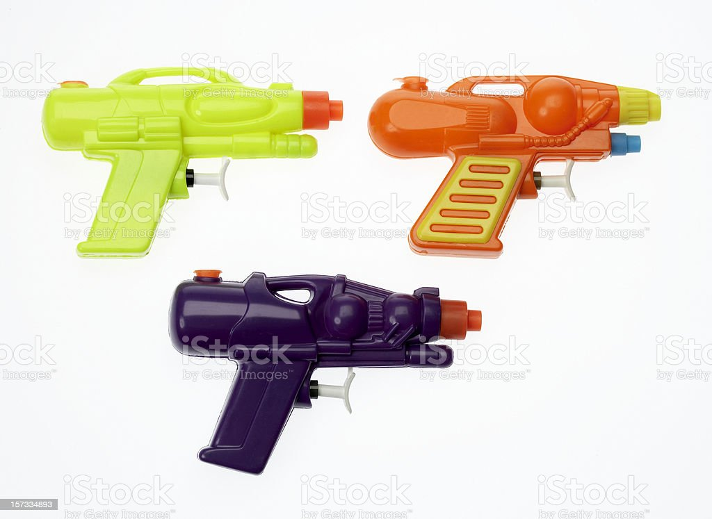 Water pistols set stock photo
