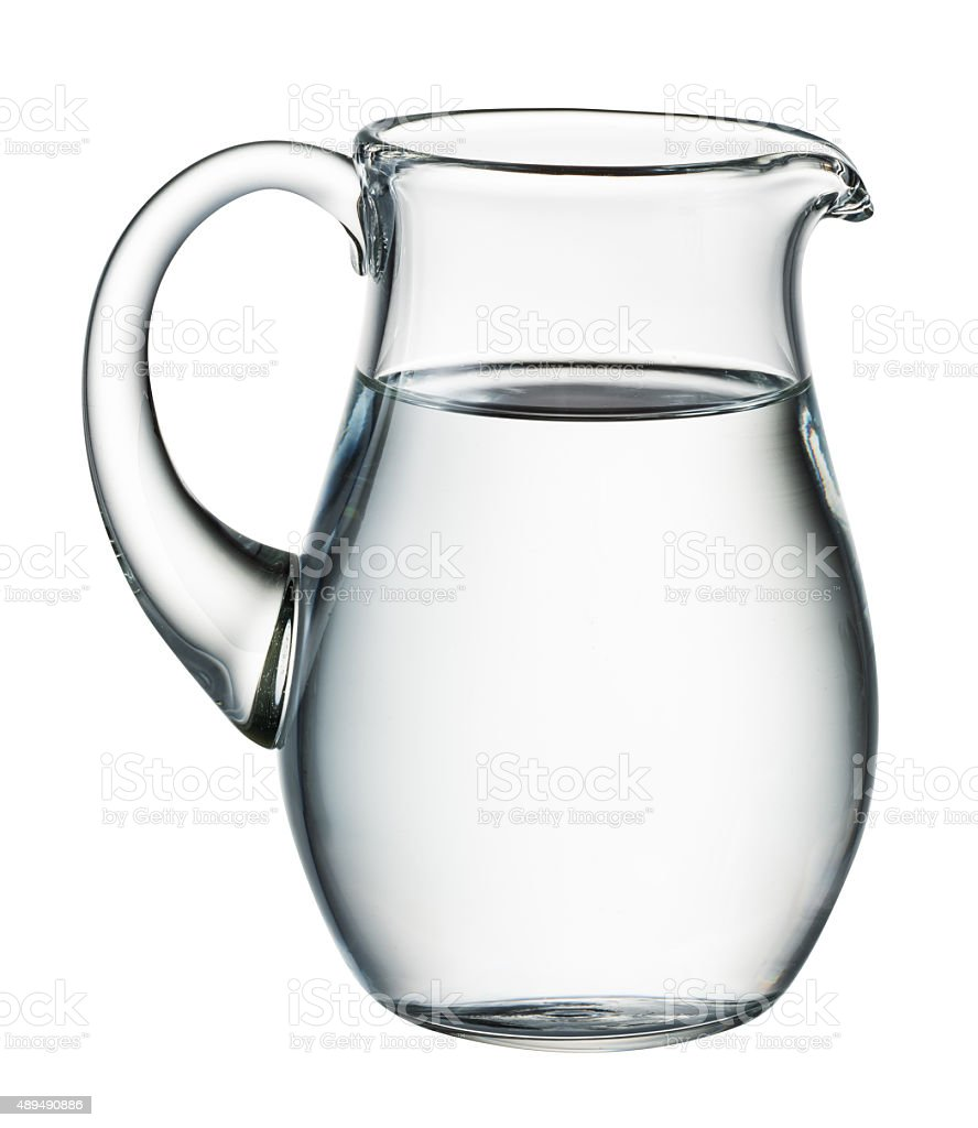 Water pitcher isolated on white. With clipping path stock photo