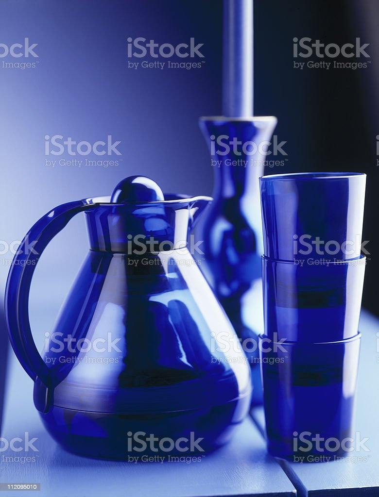 water pitcher with glass stock photo
