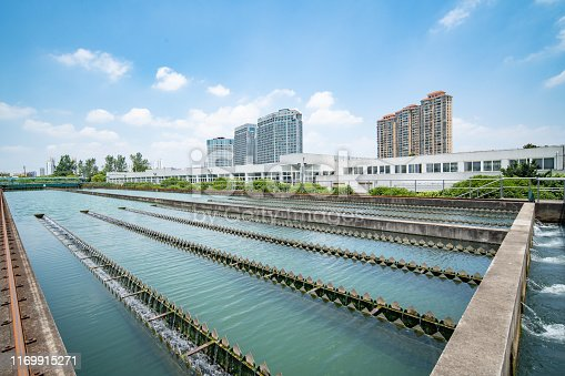 Water plant in the city