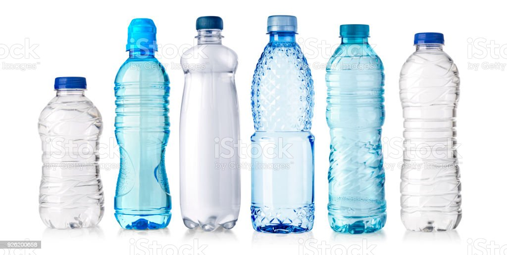 water plastic bottle isolated stock photo