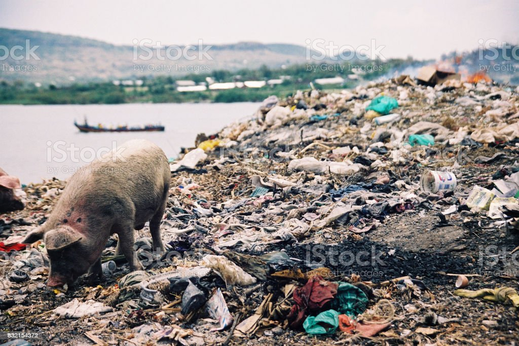 Water Pollution in Africa stock photo
