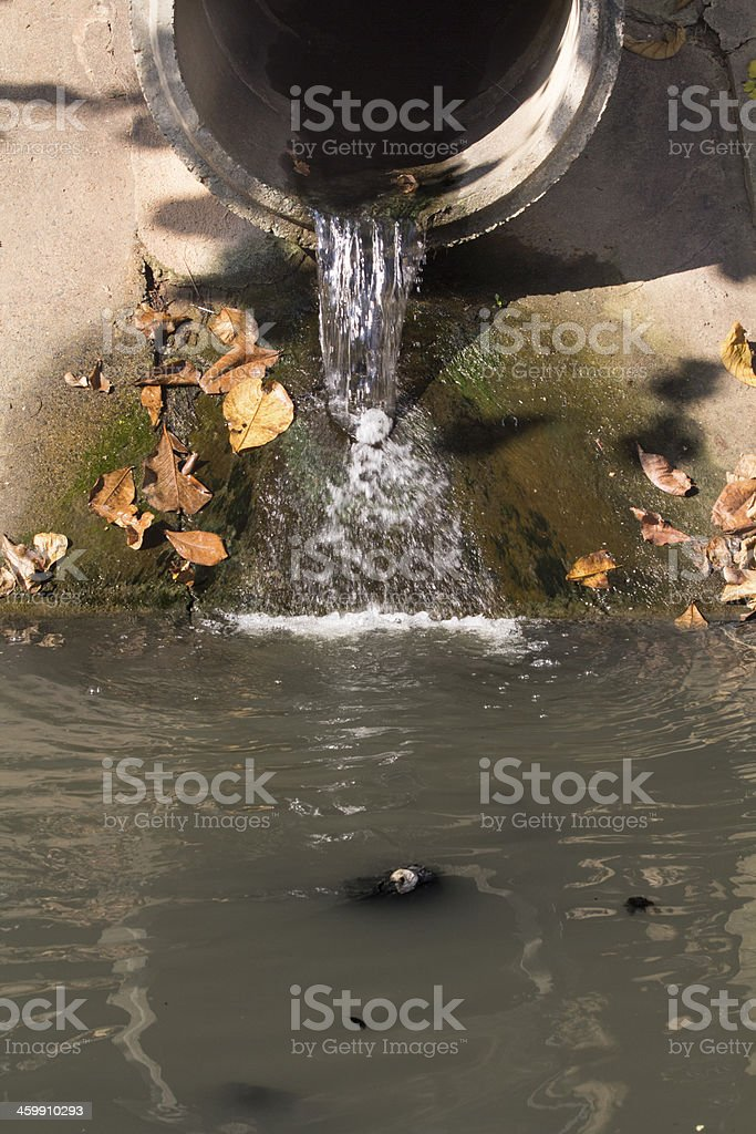 Water pollution in canal. royalty-free stock photo