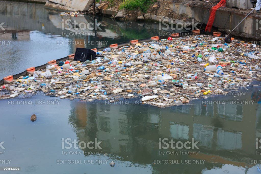 Water Pollution - Polluting the Seas royalty-free stock photo