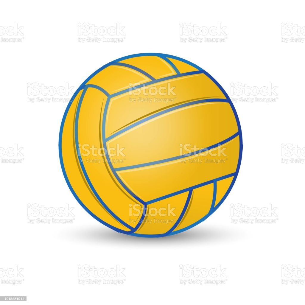 Water polo ball sport game team ball illustration stock photo