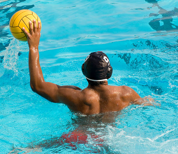 Water Polo Player stock photo