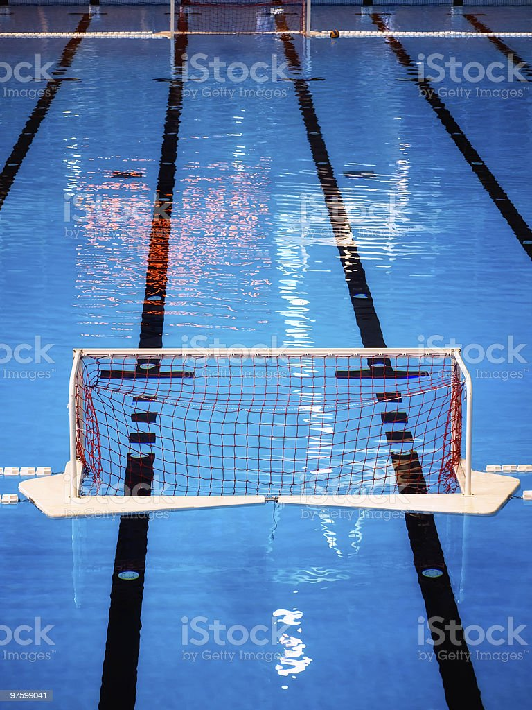 Water polo pool royalty-free stock photo