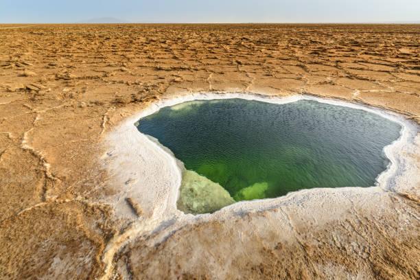 Water pool in the Danakil Depression, Ethiopia - foto stock