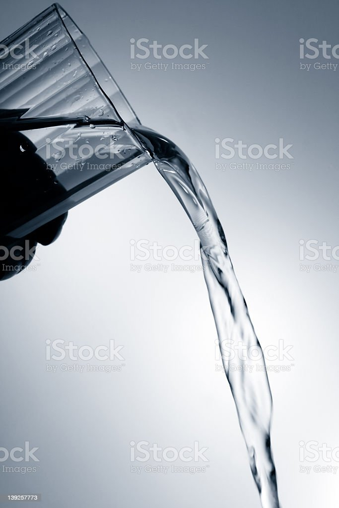 Water Pouring Out royalty-free stock photo