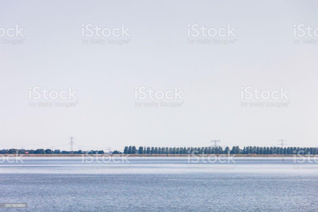 Water Power lines Tracing Horizon lines.