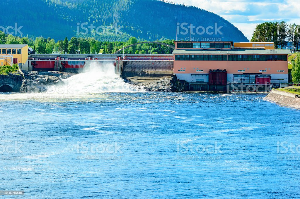 Water power station stock photo