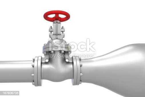 Powerful pressure in the pipe - 3d rendered image isolated on white background