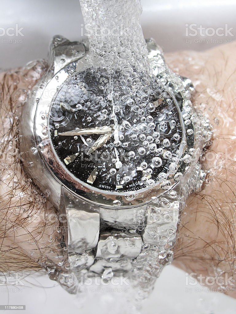 water proof watch royalty-free stock photo