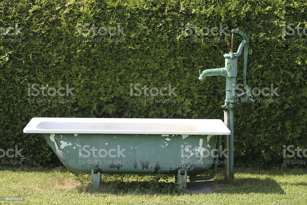 Water Pump and Bathtub royalty-free stock photo