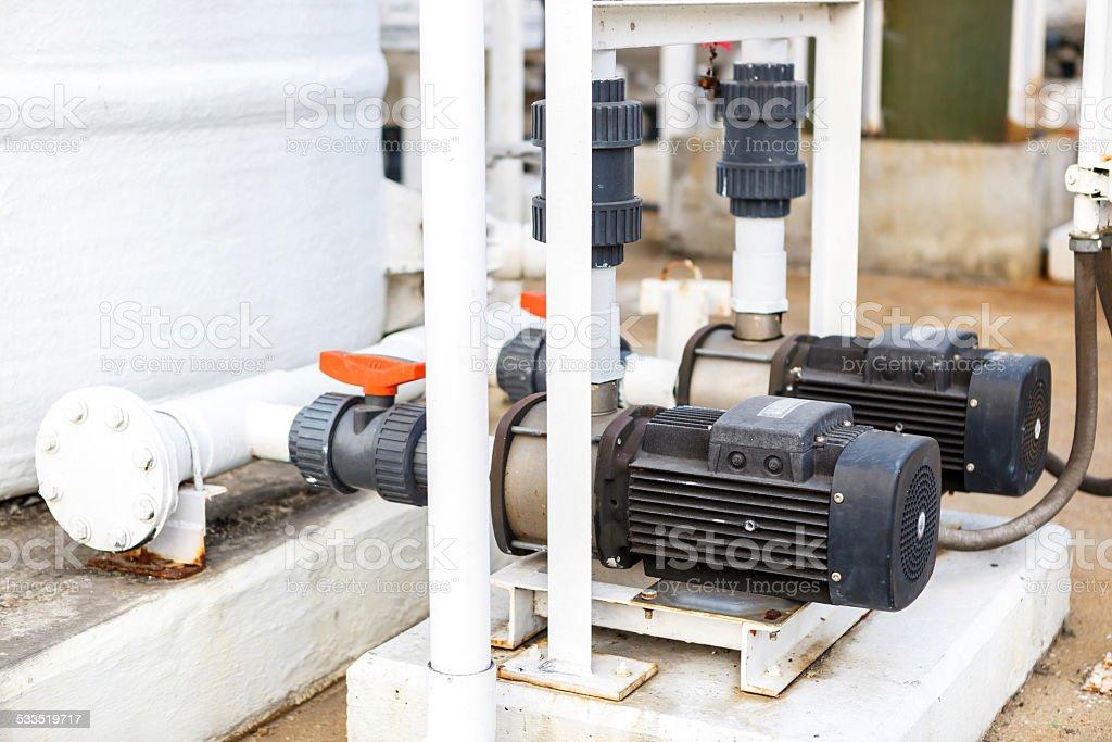 Water pump for DI tank stock photo