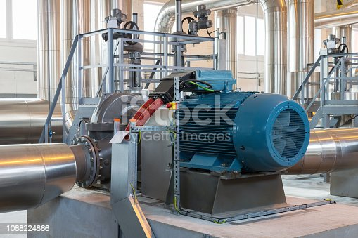 Water pump at pump station