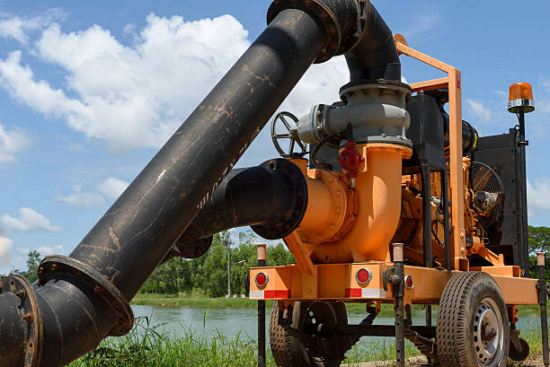 Water pump  The engine Water pump  The engine diesel transfer image stock pictures, royalty-free photos & images