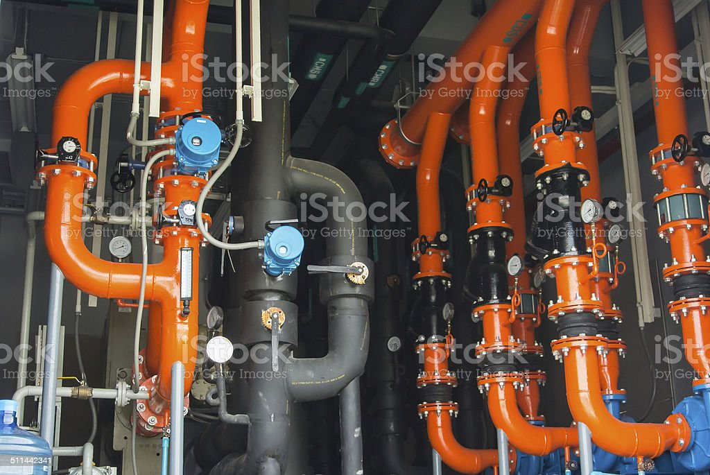 water pumping station stock photo
