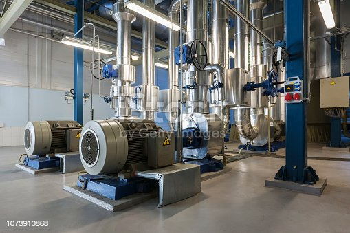 Water pumps in a modern power plant