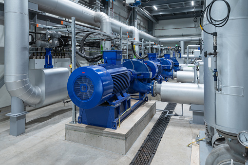 Water pumps in a large power plant