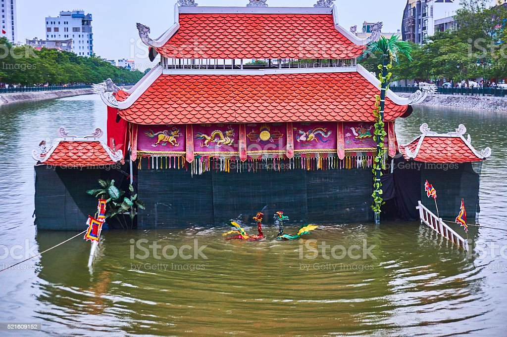 Water Puppet in Hanoi stock photo