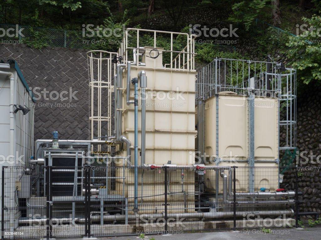 Water purification equipment stock photo