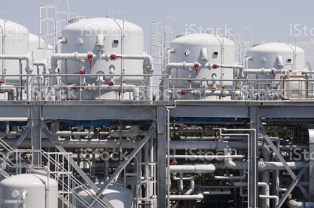 Water purification plant stock photo