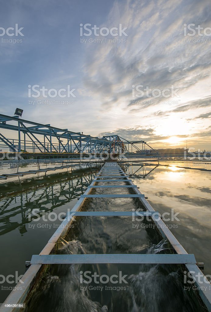 Water Purification Plant stock photo