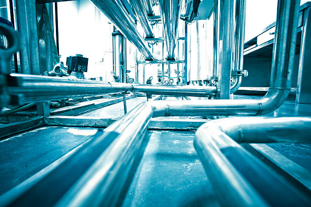 water purification system water purification system in pharmaceutical factory sewage treatment plant stock pictures, royalty-free photos & images