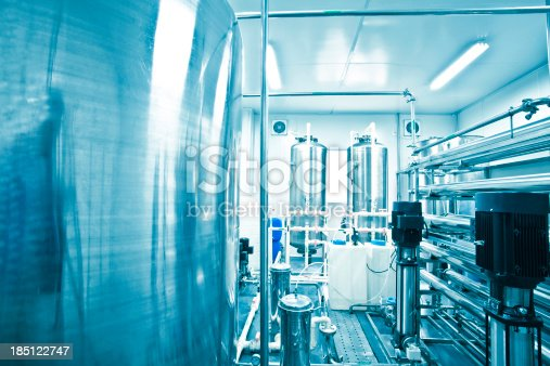 water purification system in pharmaceutical factory