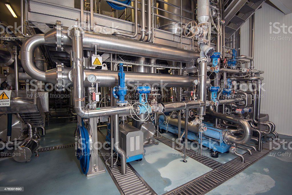 water purification system stock photo